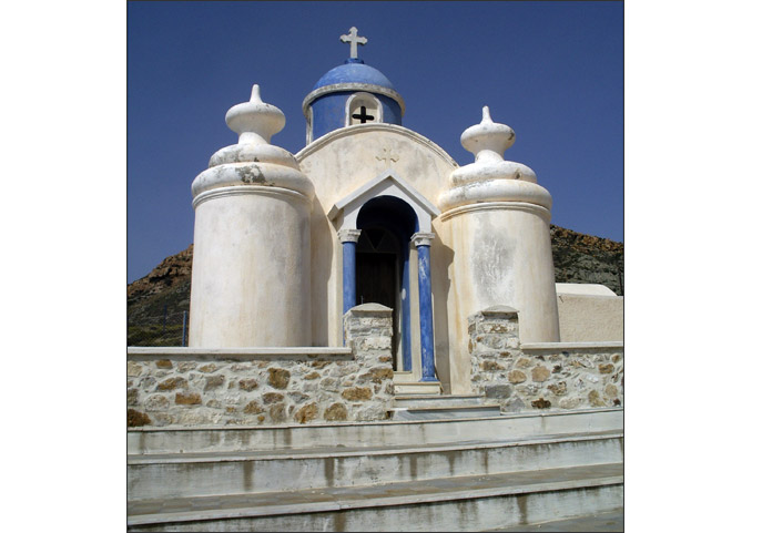 Chapel on the edge of Chora