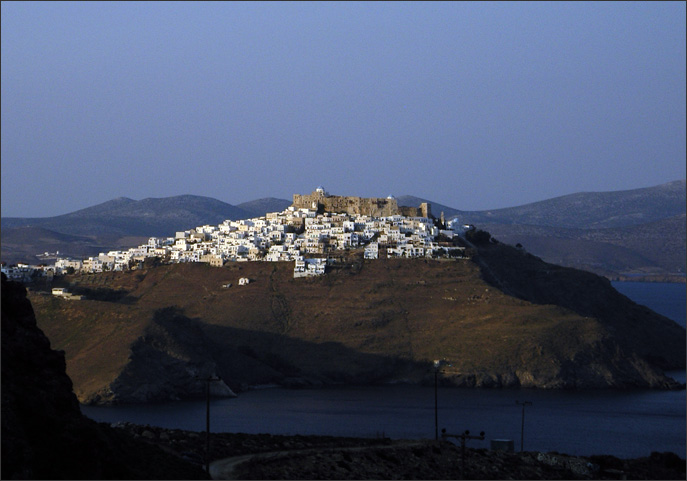 Chora at sunset
