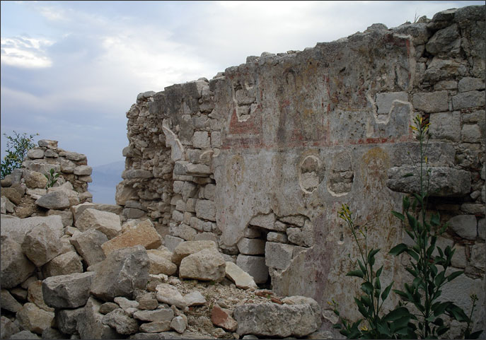 Vestiges of painting in Ag. Nikolaos within the castle