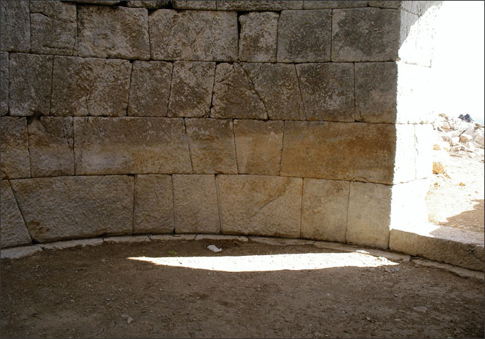 Masonry inside the Hellenistic Tower