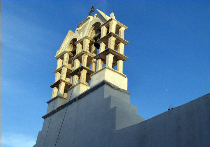 Typical Cycladic belfry