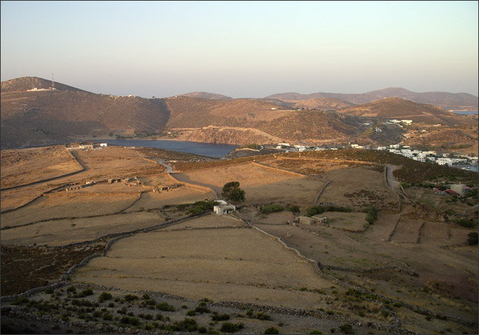 Looking north from the ancient acropolis of Patmos
